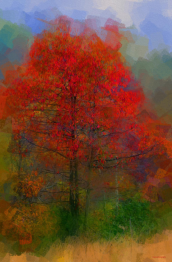 Autumn Ash Digital Art  - Autumn Ash Fine Art Print