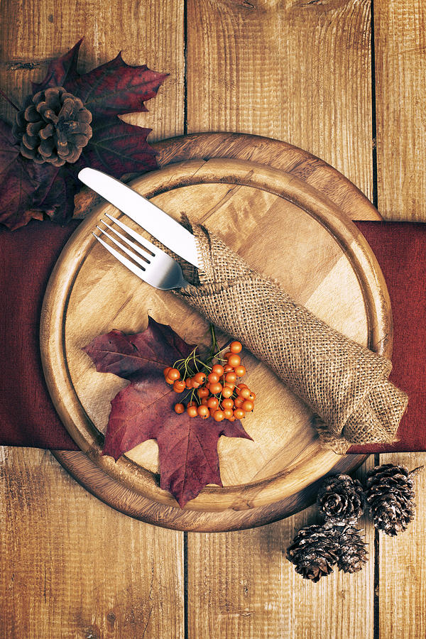 Autumn Table Setting Photograph
