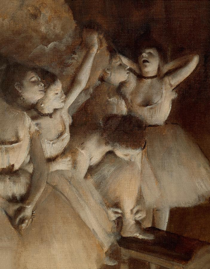 Ballet Rehearsal On Stage Painting