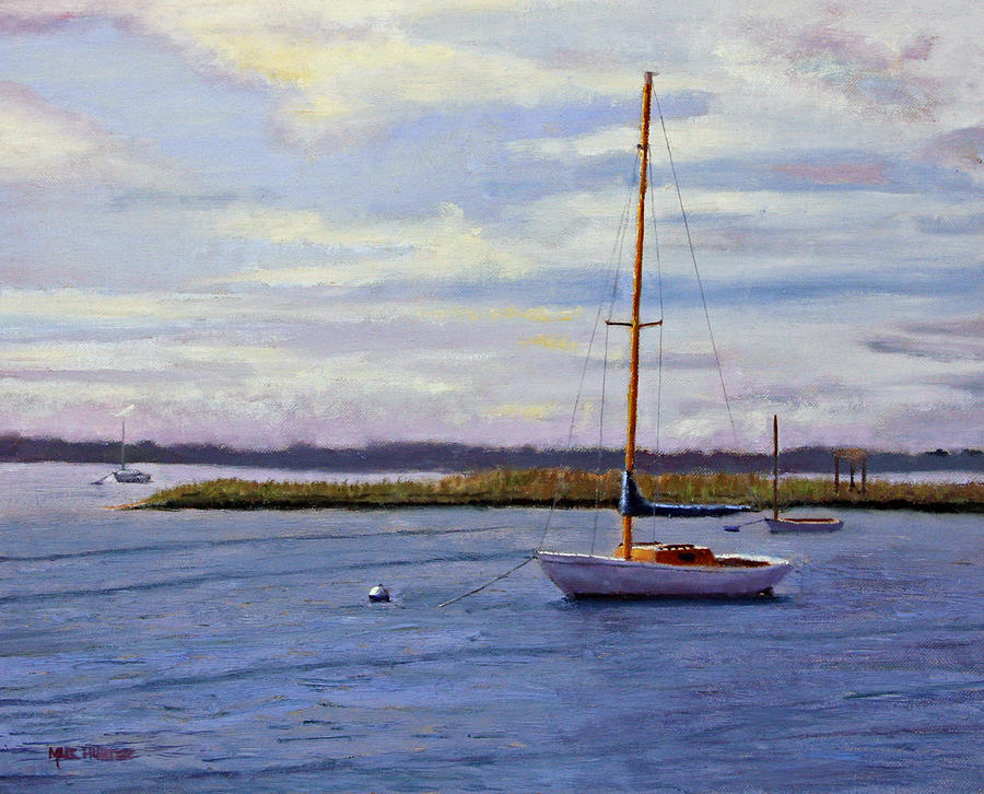 Barnegat Bay Morning Painting  - Barnegat Bay Morning Fine Art Print