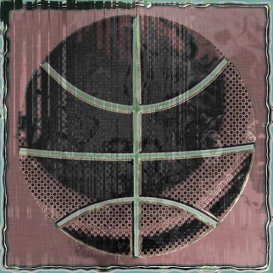 Basketball Abstract Digital Art  - Basketball Abstract Fine Art Print