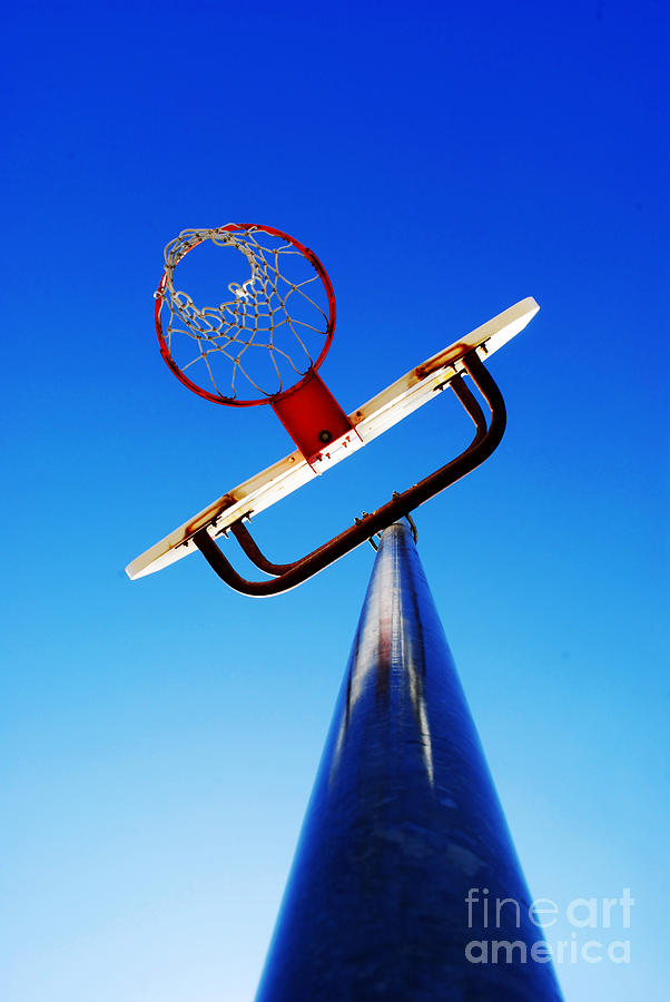 Rule Photograph - Basketball Hoop by Lane Erickson