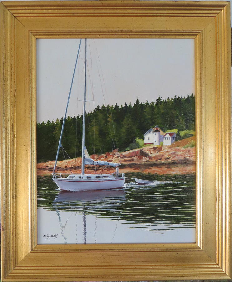 See Previous Image For Description Painting - Bass Harbor Light by Karol Wyckoff
