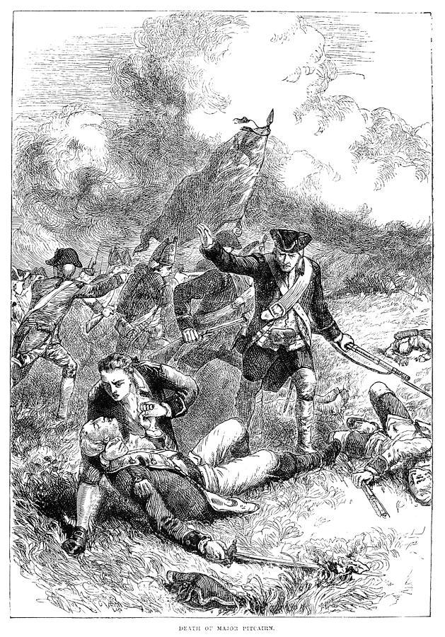 Battle Of Bunker Hill, 1775 Photograph