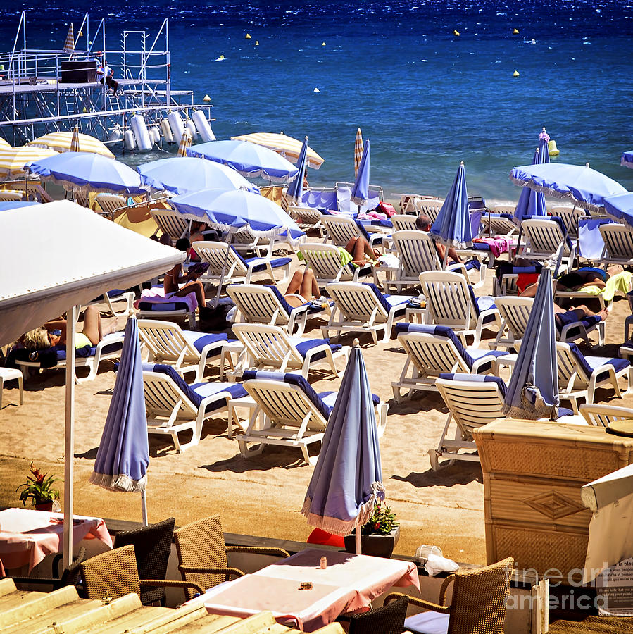 Beach In Cannes Photograph