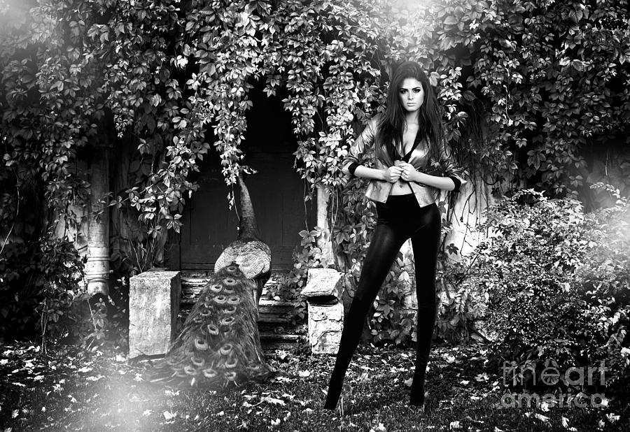 Beautiful Model In The Garden Photograph
