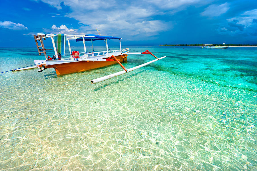 Beautiful Sea At Gili Meno Indonesia Photograph By