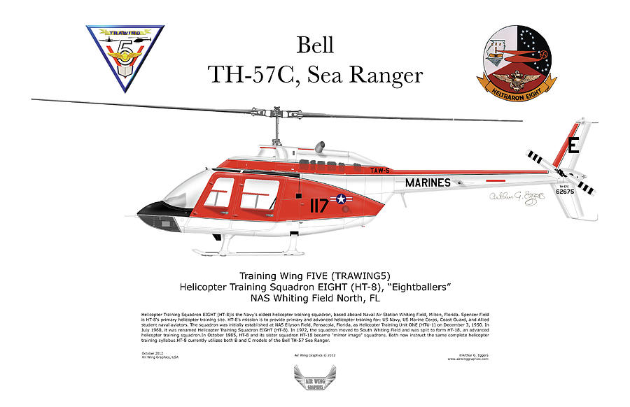 Bell Th-57c Sea Ranger Digital Art