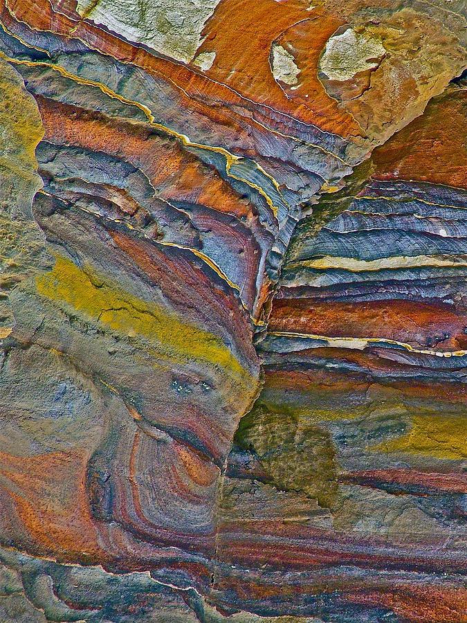 Belly Eyes Rock  Along A Trail In Petra In Jordan Photograph - Belly Eyes Rock In Petra-jordan by Ruth Hager