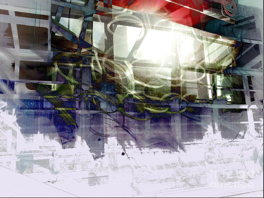 City Digital Art - Berlin S Bahn Travails by Aruna Samivelu