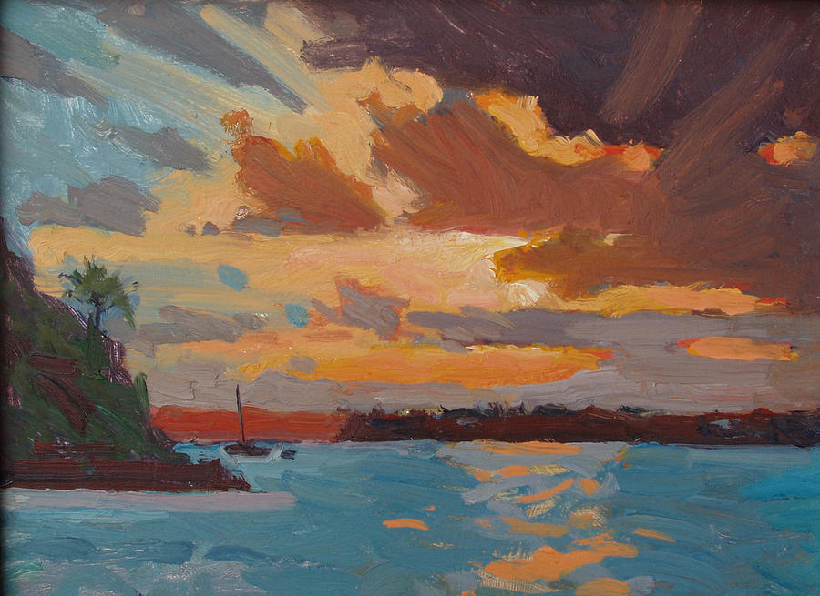 Bermuda Sunset Painting  - Bermuda Sunset Fine Art Print