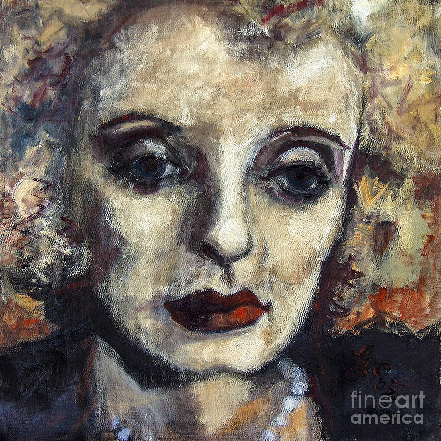 Bette Davis  Painting