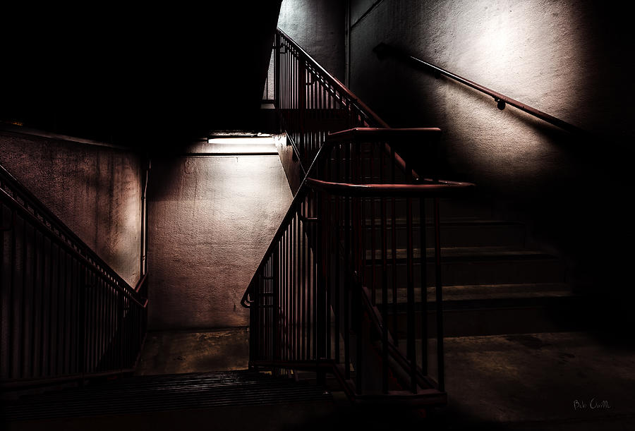 Stair Photograph - Between Here And There by Bob Orsillo