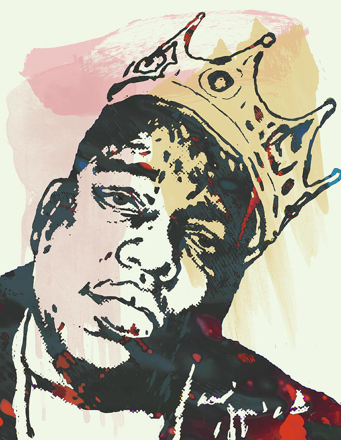 Biggie Smalls Modern Art Drawing Poster Drawing  - Biggie Smalls Modern Art Drawing Poster Fine Art Print