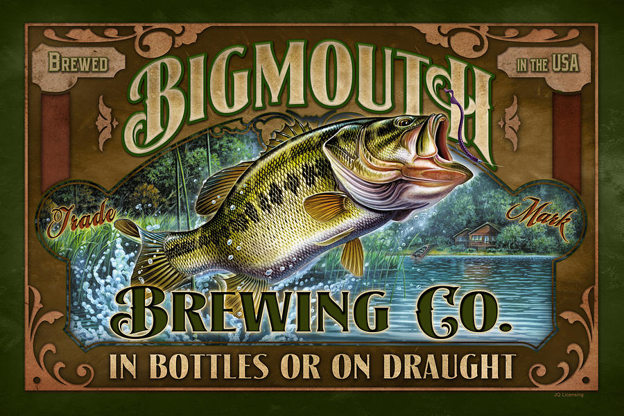 Jon Q Wright Painting - Bigmouth Brewing by JQ Licensing