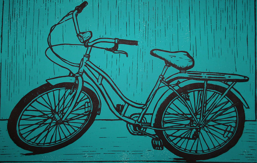 Bike Drawing - Bike 5 by William Cauthern