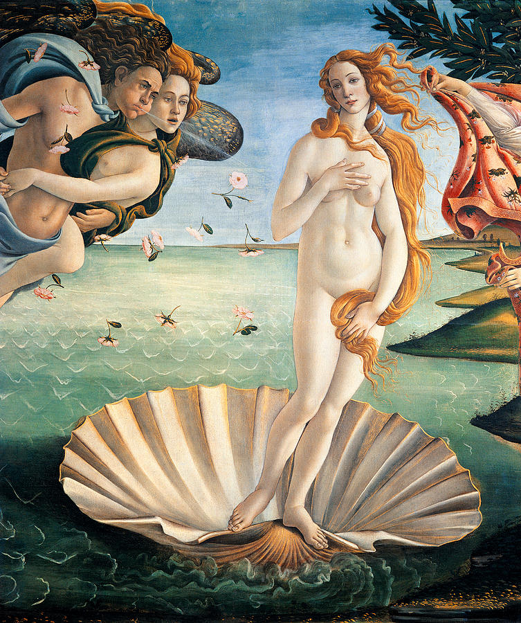 Birth Of Venus Painting  - Birth Of Venus Fine Art Print