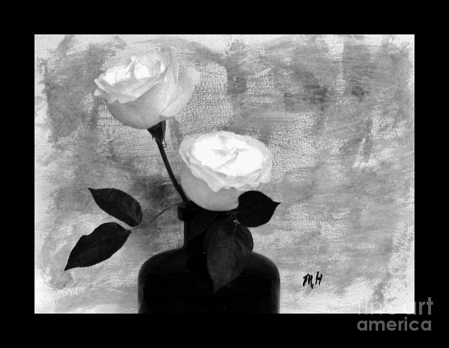 Black And White Rose Photograph  - Black And White Rose Fine Art Print