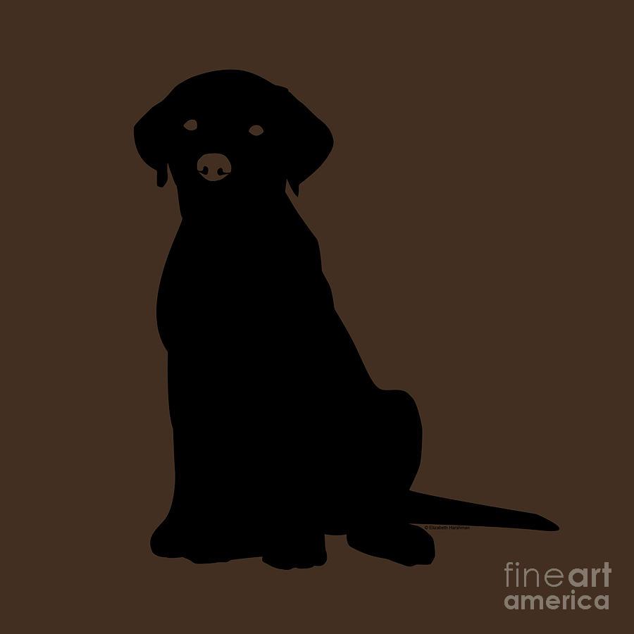 Lab Digital Art - Black Labrador by Elizabeth Harshman