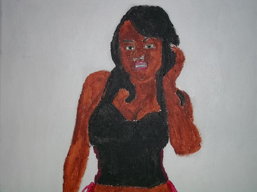 Black Woman Of The 2000s Painting  - Black Woman Of The 2000s Fine Art Print