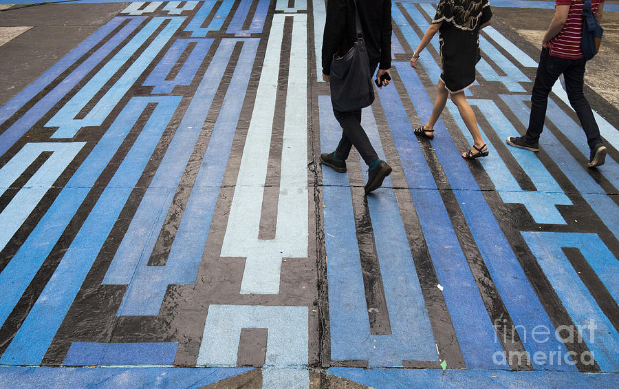 Blue Crosswalk Photograph
