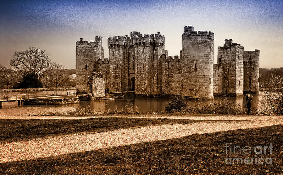 Bodiam Castle Photograph - Bodiam Castle by Donald Davis