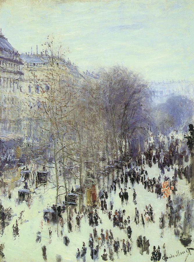 Boulevard Des Capucines Painting - Boulevard Des Capucines by Claude Monet