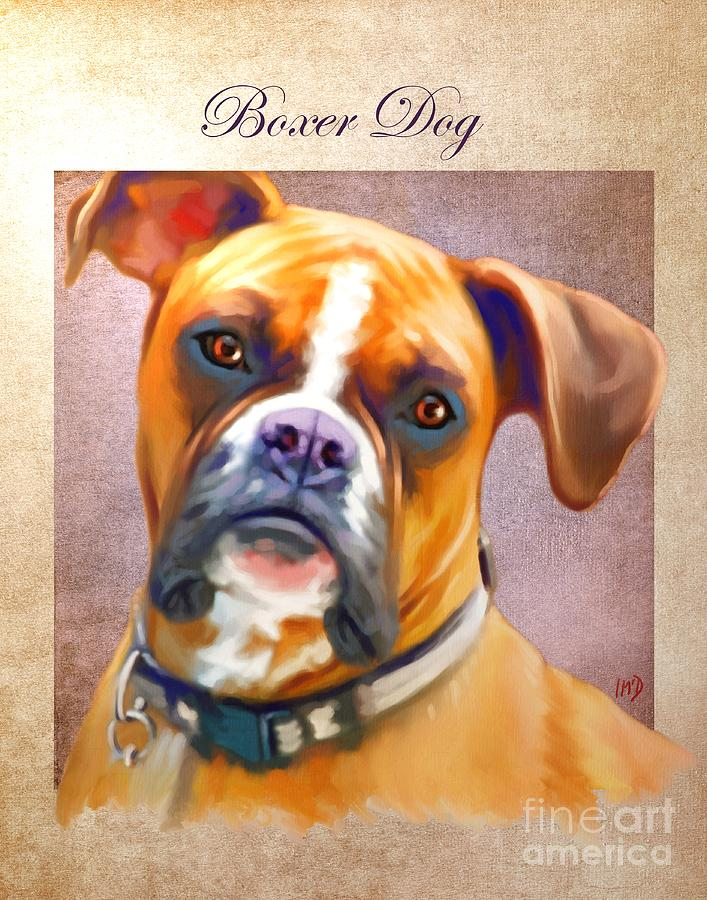 Dog Paintings Painting - Boxer Dog Art by Iain McDonald
