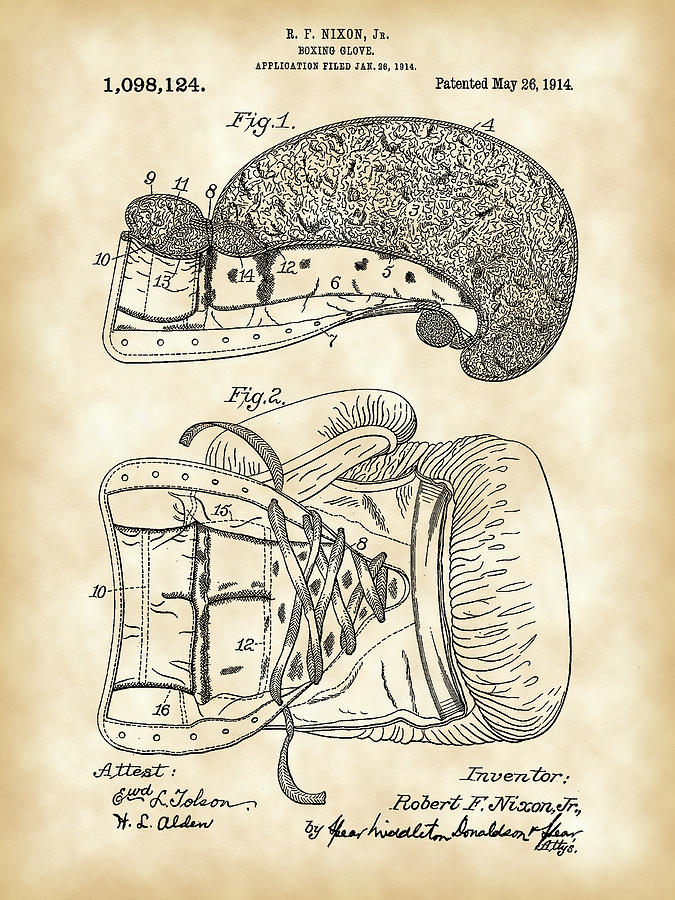 Boxing Glove Patent Digital Art