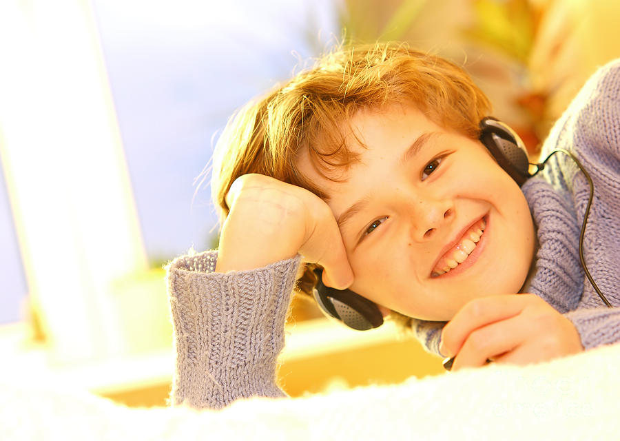 Boy Listen To Music Photograph