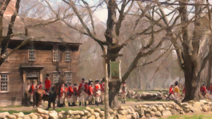 British Soldiers At Hartwell Tavern Painting  - British Soldiers At Hartwell Tavern Fine Art Print