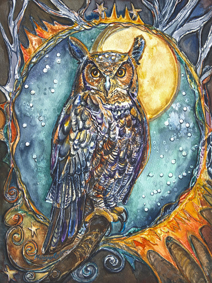 Brother Owl Painting  - Brother Owl Fine Art Print