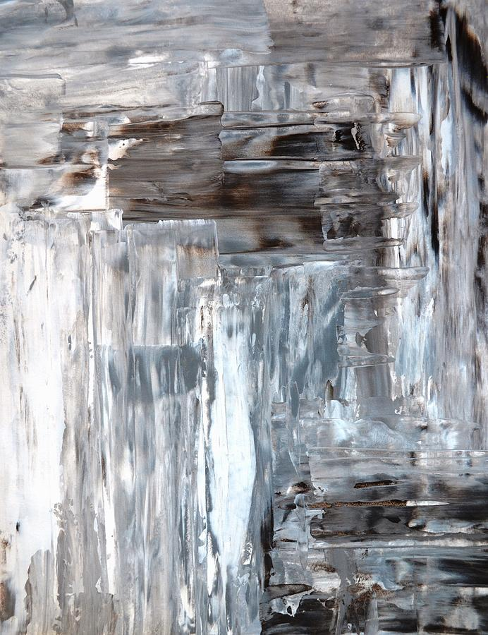 Awkward Grey And Brown Abstract Art Painting Painting By CarolLynn Tice
