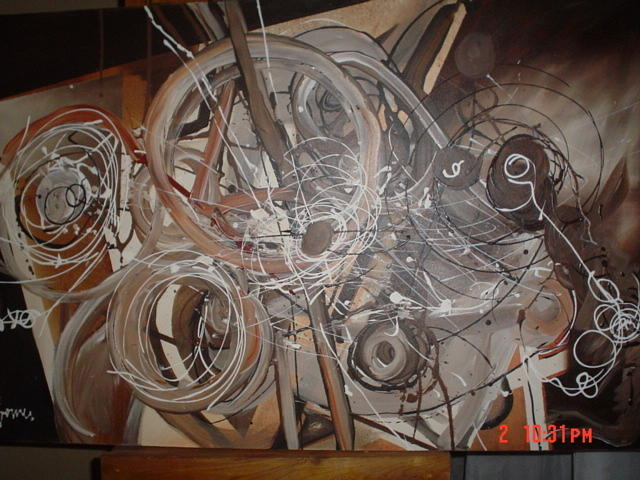 Abstract Painting.browns Painting - Brownie by Manuel Gomes