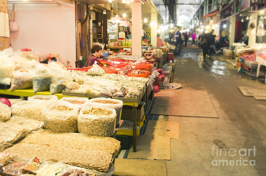 Bujeon Market In Busan Photograph