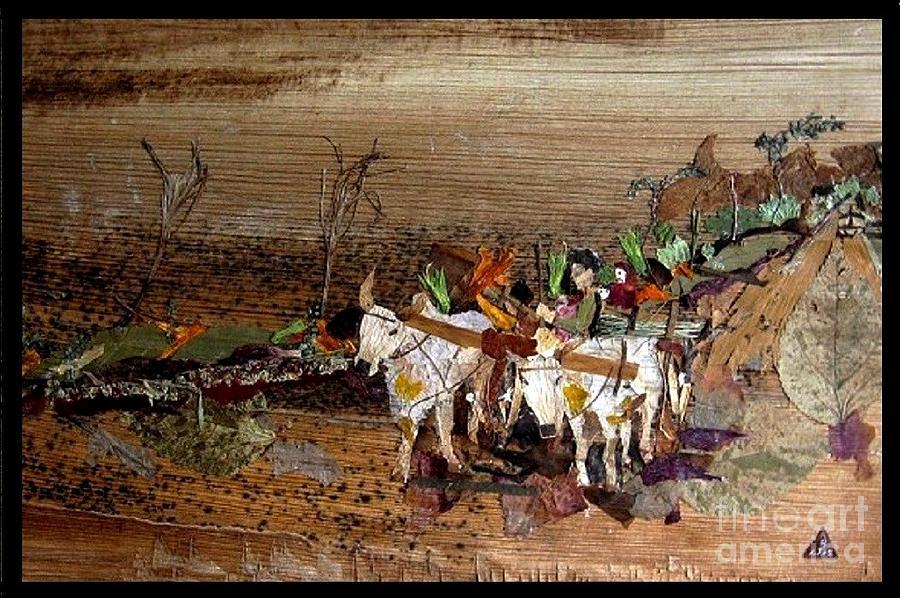 Bullock Cart Mixed Media
