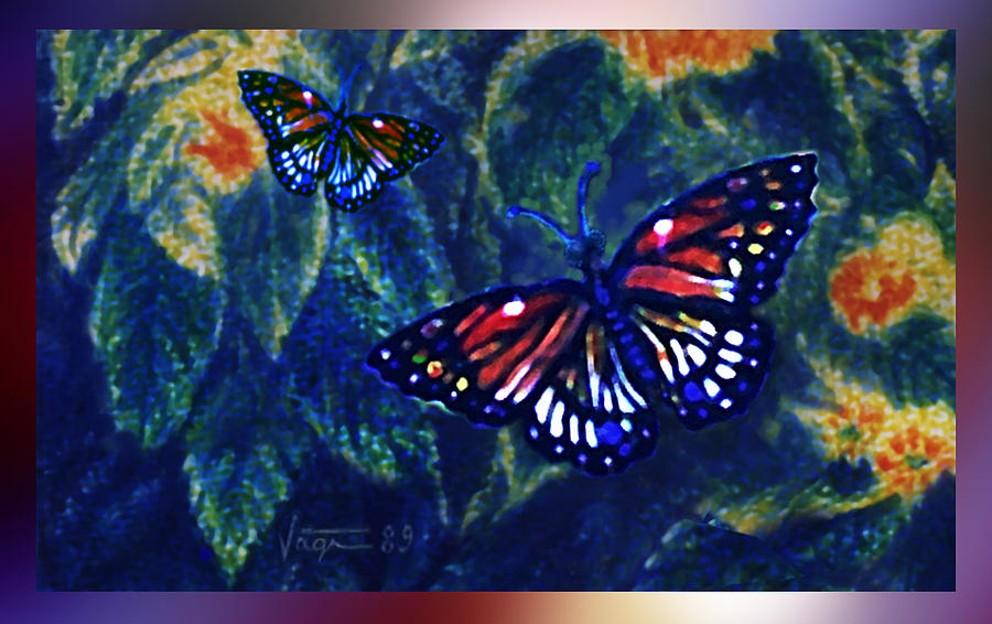 Butterflies Mixed Media  - Butterflies Fine Art Print