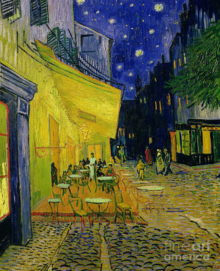 Cafe Terrace Painting - Cafe Terrace Arles by Vincent van Gogh