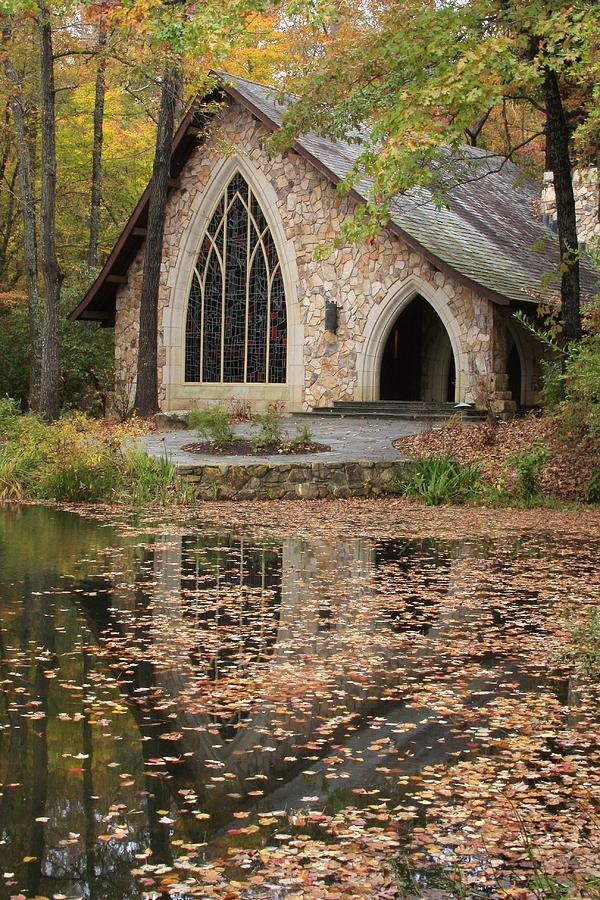 This Is A Picture Of The Callaway Chapel During The Fall It Is A Very Pretty Gothic Style