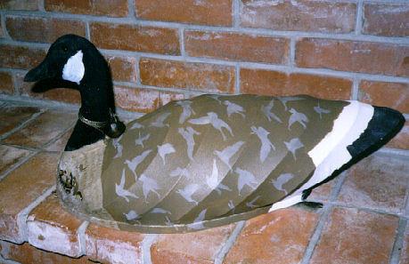 Goose Sculpture - Canvas Decoy by Tim  Joyner