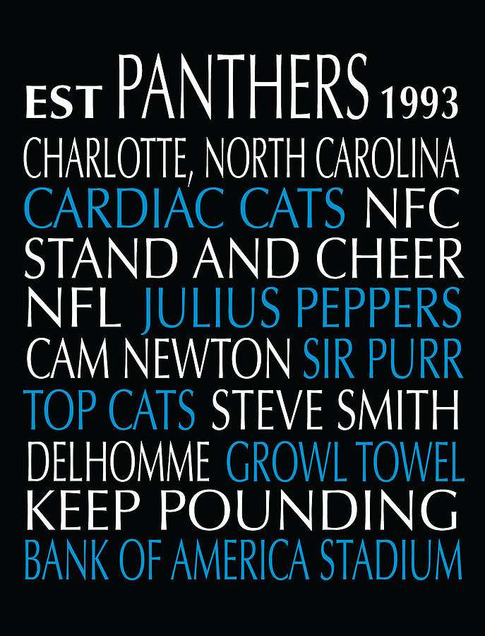 Carolina Panthers Digital Art  - Carolina Panthers Fine Art Print
