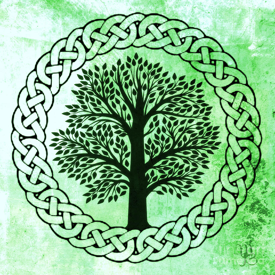 Tree Of Life Invitation Rsvp Celtic Life By: Celtic Tree Of Life Digital Art By Mindy Bench