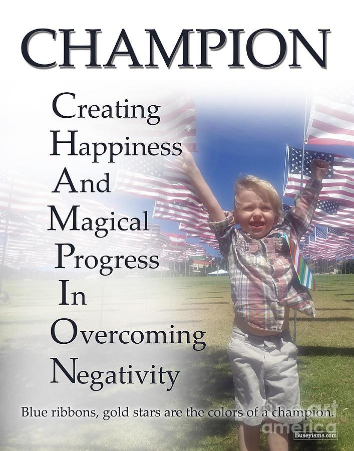 Champion Buseyism By Gary Busey Digital Art