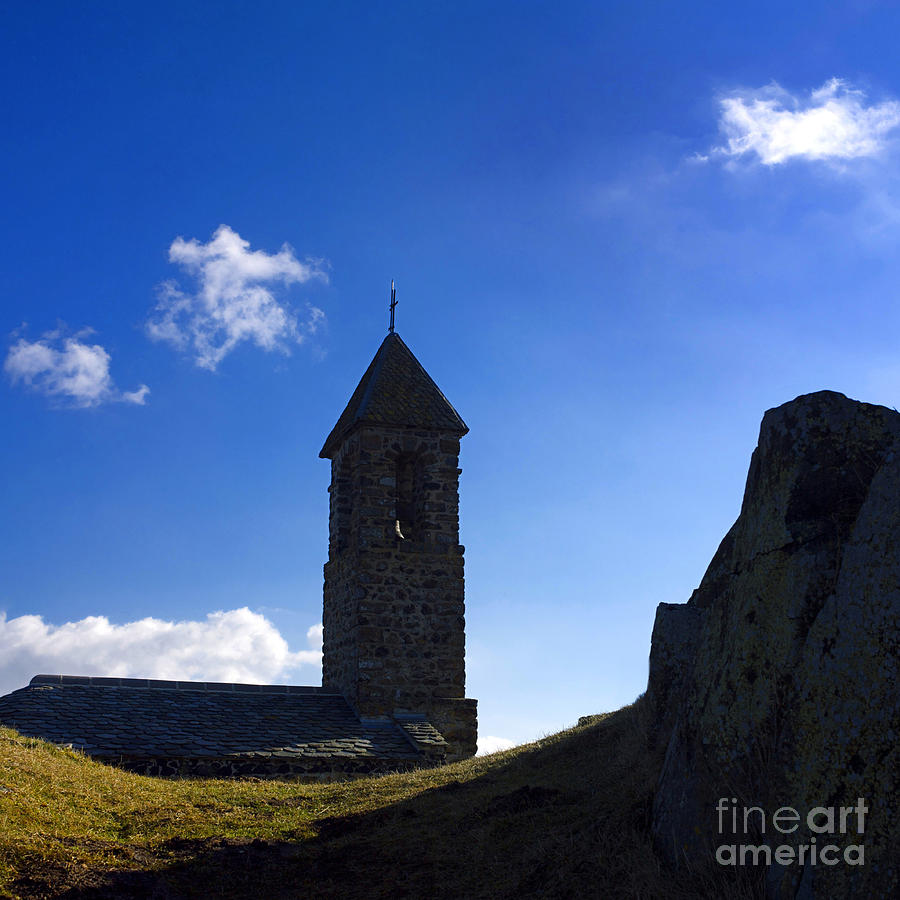 Chapel. Auvergne. France Photograph  - Chapel. Auvergne. France Fine Art Print