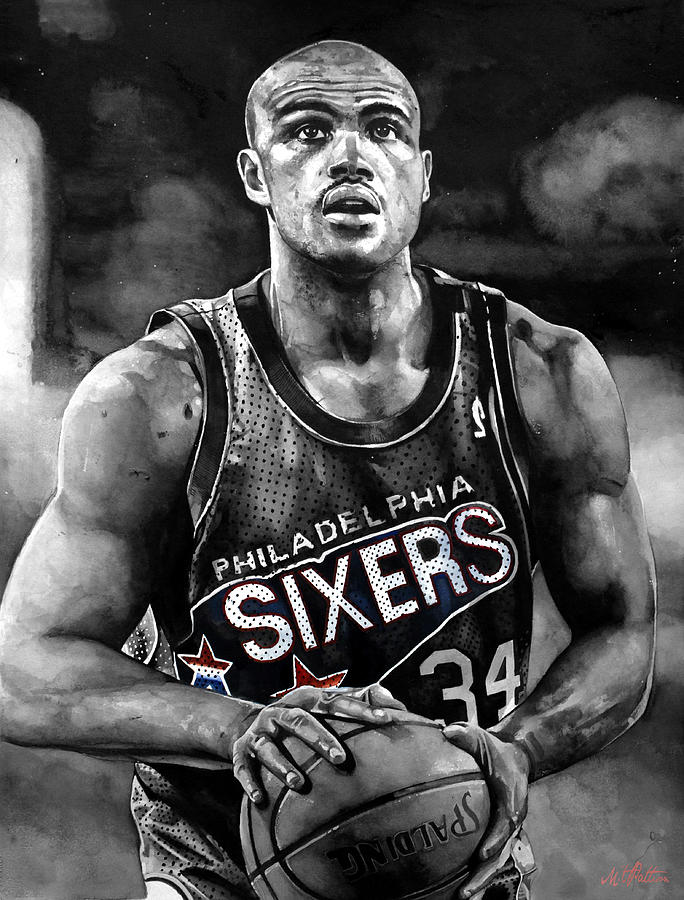 Charles Barkley Painting  - Charles Barkley Fine Art Print