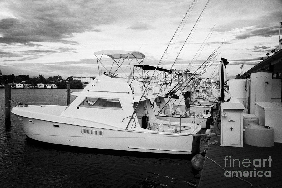 Charter Fishing Boats Charter Boat Row City Marina Key West Florida Usa Photograph