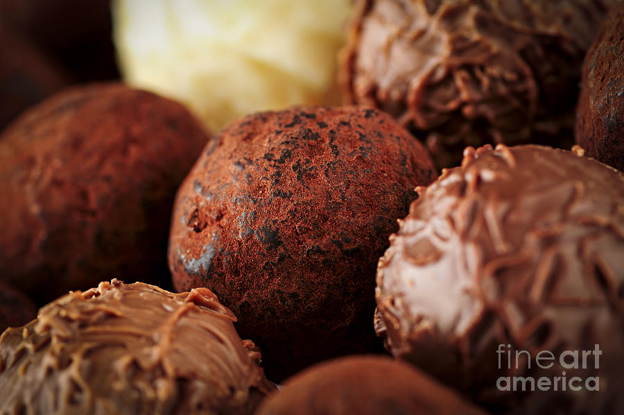Chocolate Truffles Photograph  - Chocolate Truffles Fine Art Print