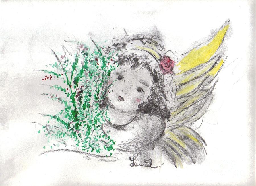 Christmas Angel Mixed Media