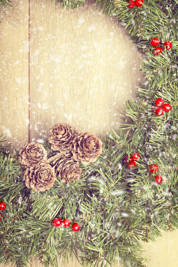 Christmas Photograph - Christmas Garland by Amanda And Christopher Elwell
