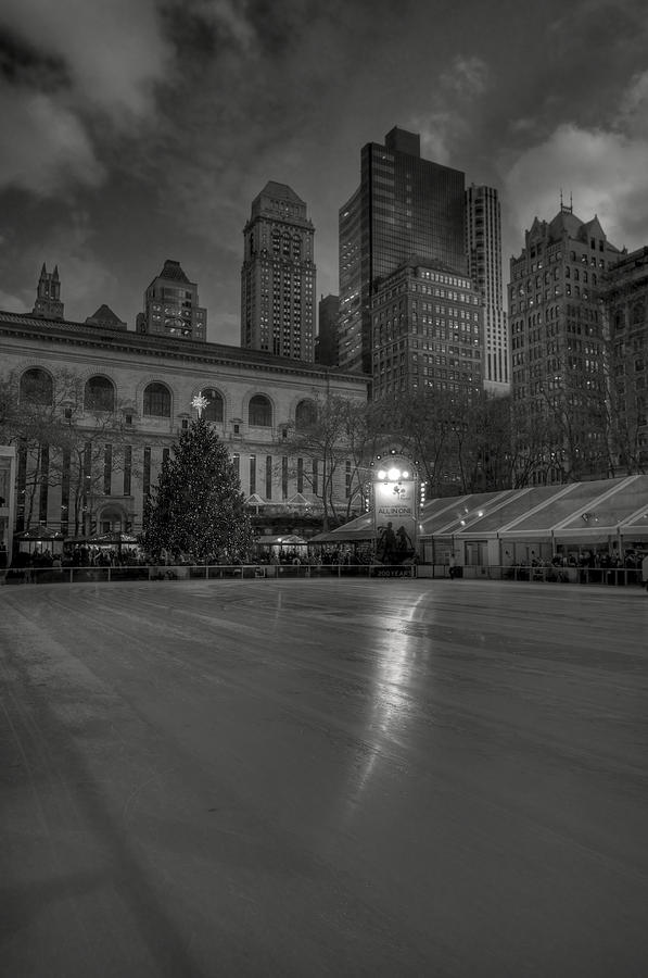 Christmas In Bryant Park Photograph